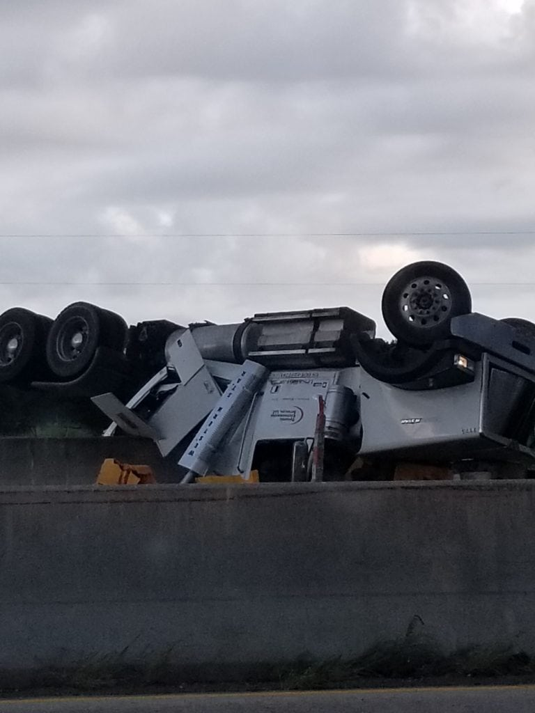 I-10 18-wheeler crash