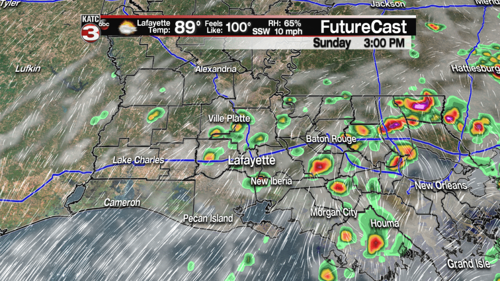 Hot & humid with pop-up showers