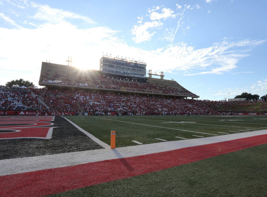 Photo caption: Cajun Field during a November 2016 football game. (Photo credit: Doug Dugas / University of Louisiana at Lafayette)