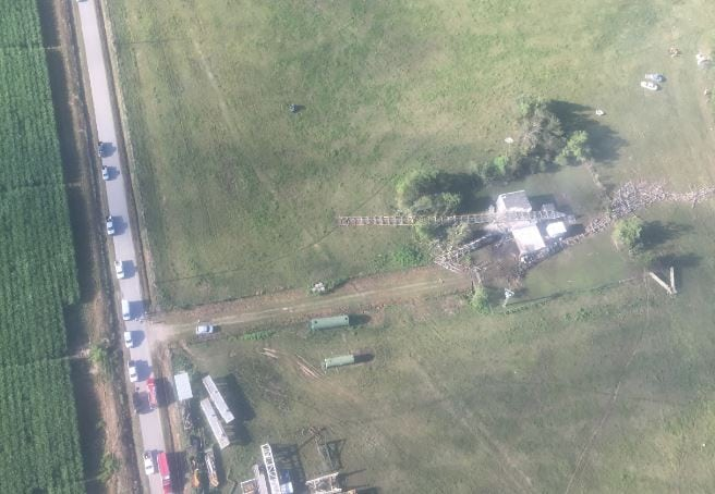 Multiple emergency officials are on scene of the plane crash located off of Rosewood Road, west of Kaplan. (Photo: Acadian Air Med)