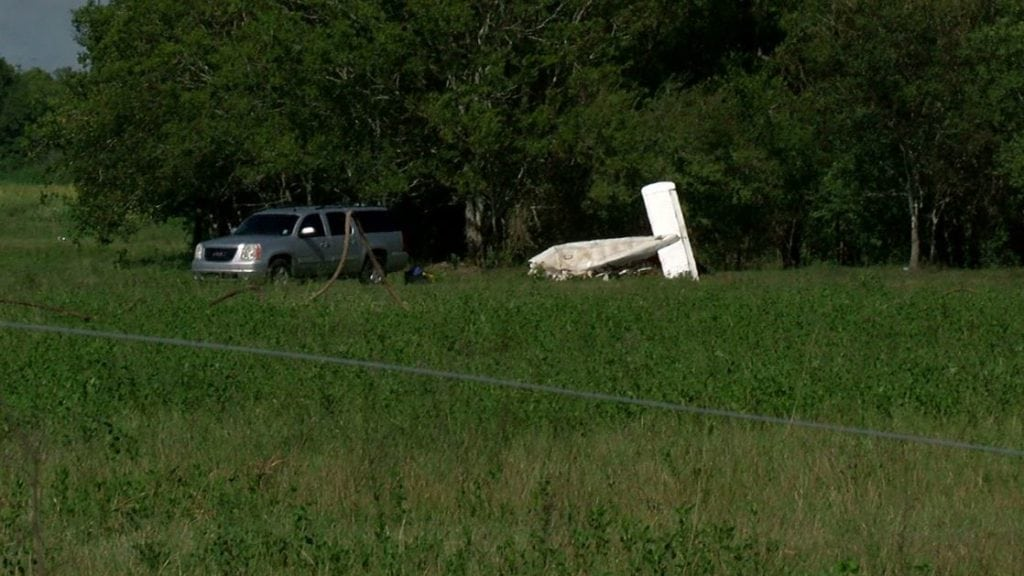 Plane crash in Vermilion Parish (Photo: KATC)