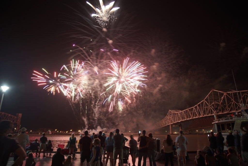 Fireworks over the Atchafalaya
