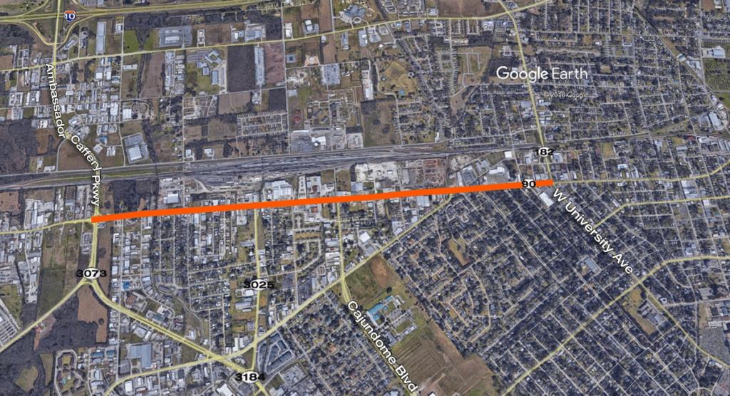 U.S. 90 Lane closures