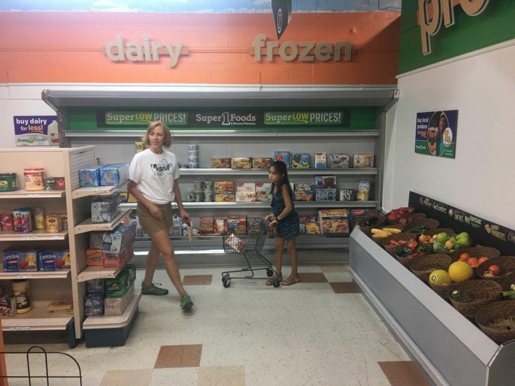 Museum grocery store exhibit