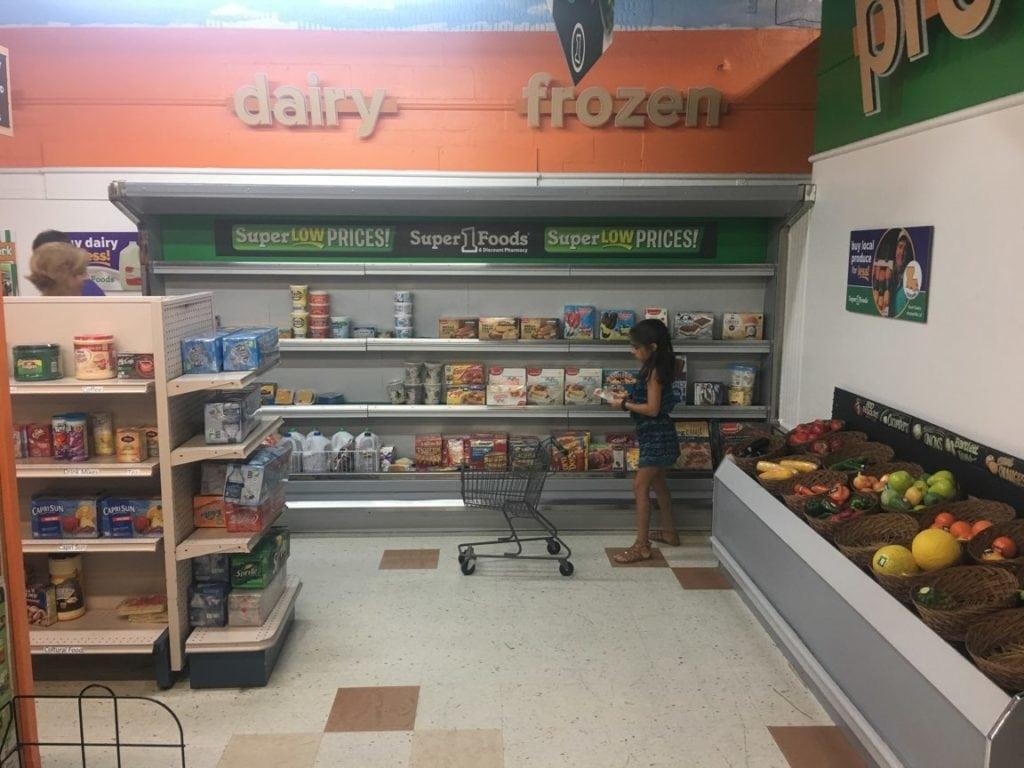 Children's Museum grocery store exhibit