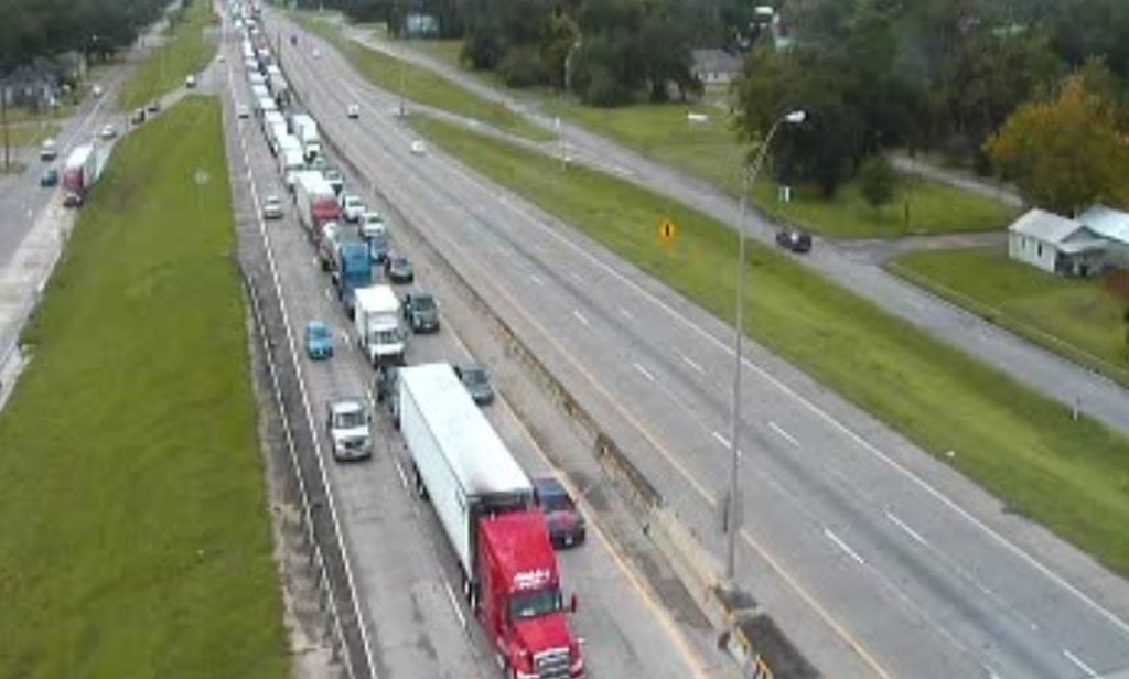I-10 traffic in Lake Charles