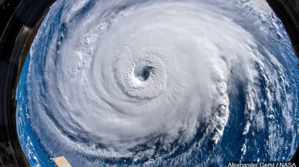 PHOTO: View of Hurricane Florence from the International Space Station (ISS), Photo Date: 9/12/2018