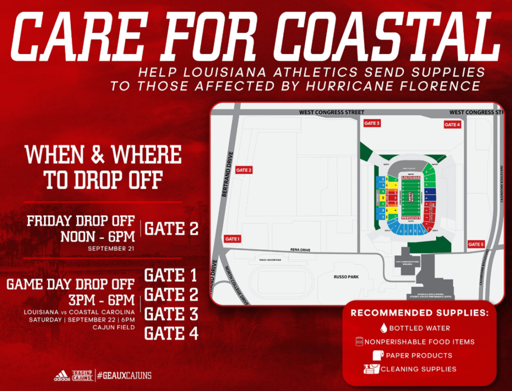 Care for Coastal Supply Drive UL Lafayette