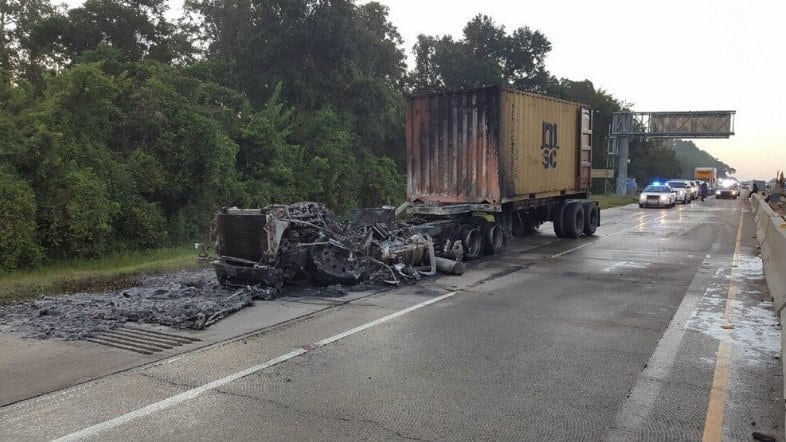 fiery crash in Ascension Parish
