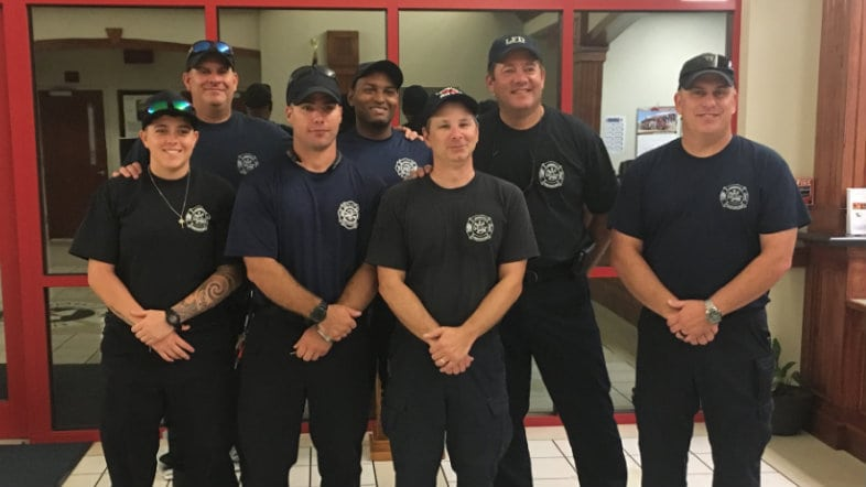 Lafayette firefighters head to South Carolina
