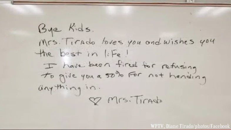 Teacher fired for giving zeroes to students