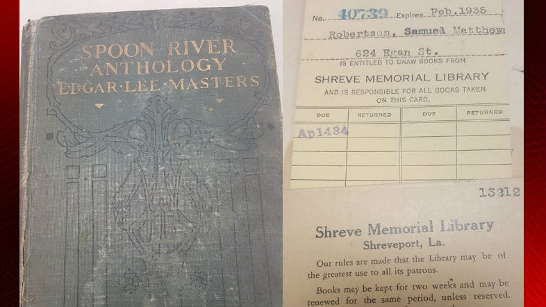 Spoon River Anthology overdue book Shreve Memorial Library