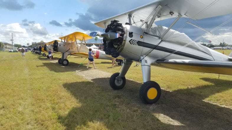 Stearman airplanes
