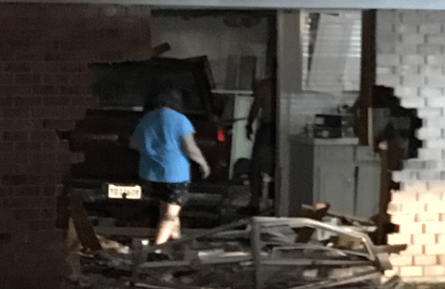 Truck into house Youngsville Highway