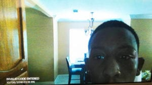 Burglary suspect selfie