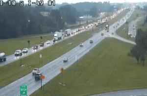 Traffic I-10 at I-49