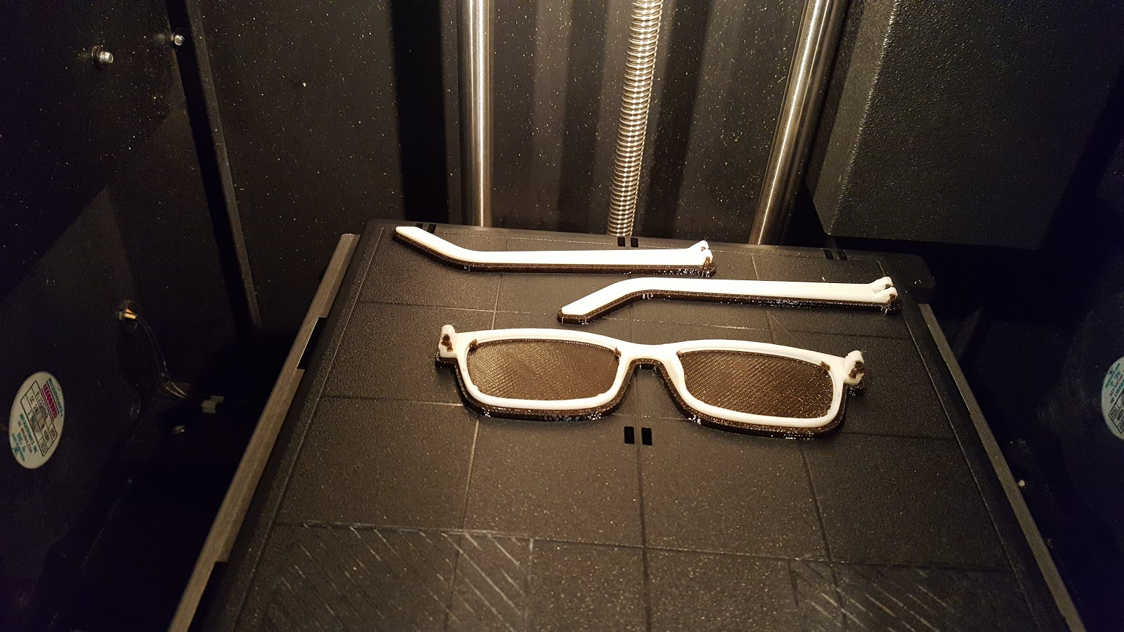 A prototype of the 3D-printed eyeglasses created by the LSU team. Credit: Macie Coker.