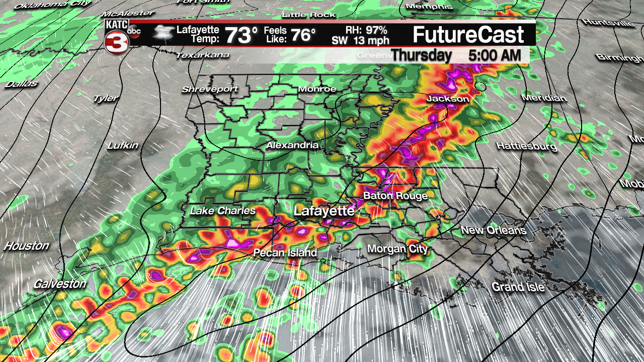 Severe storms, heavy rain threat, Wednesday night into early Thursday