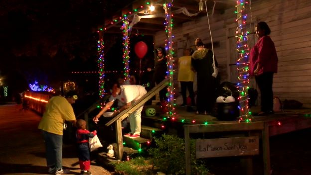 trick-or-treating at LARC's Acadian Village