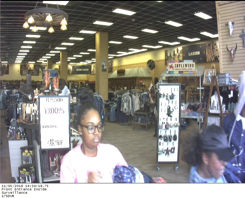 On Monday, November 5 a man and three women entered a local retail store and stole $4,000 worth of clothing.