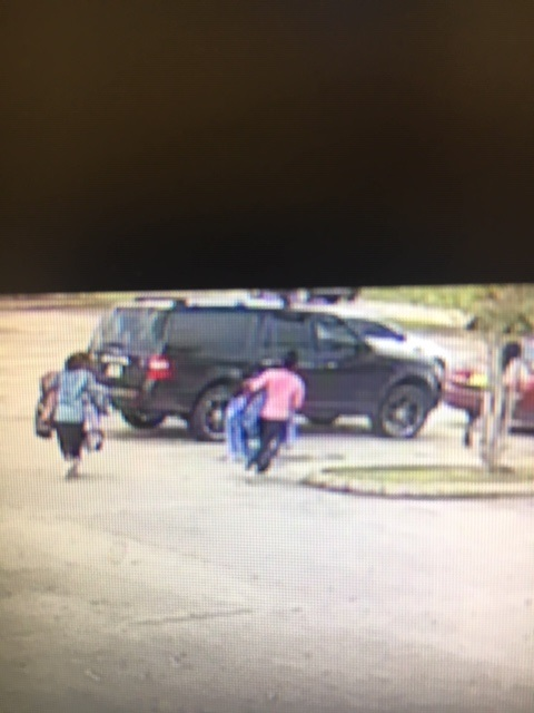 Suspects left in a black SUV