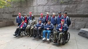 Vets at the FDR memorial