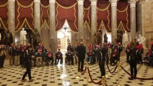 Vets in National Statuary at the Capitol
