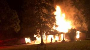 Cade house fire