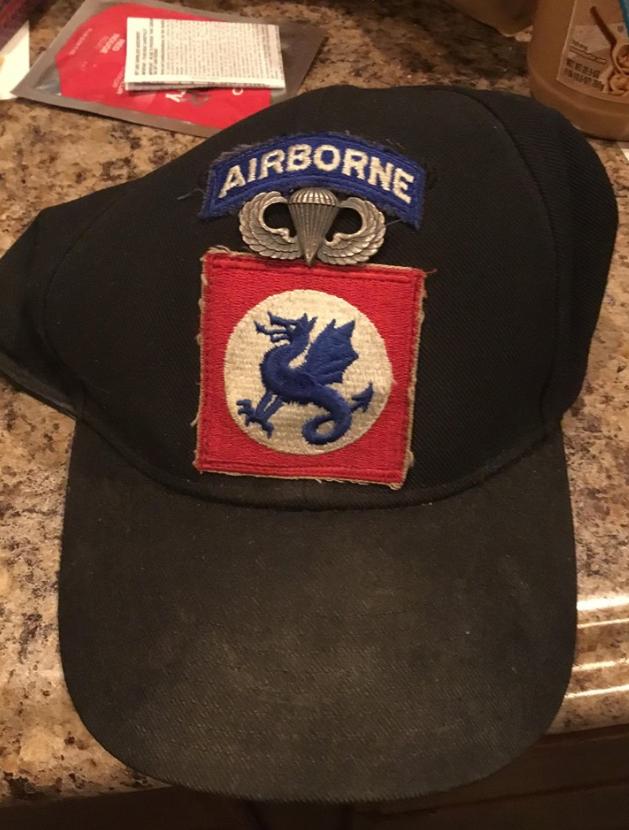 Olive-Garden-found-military-hat