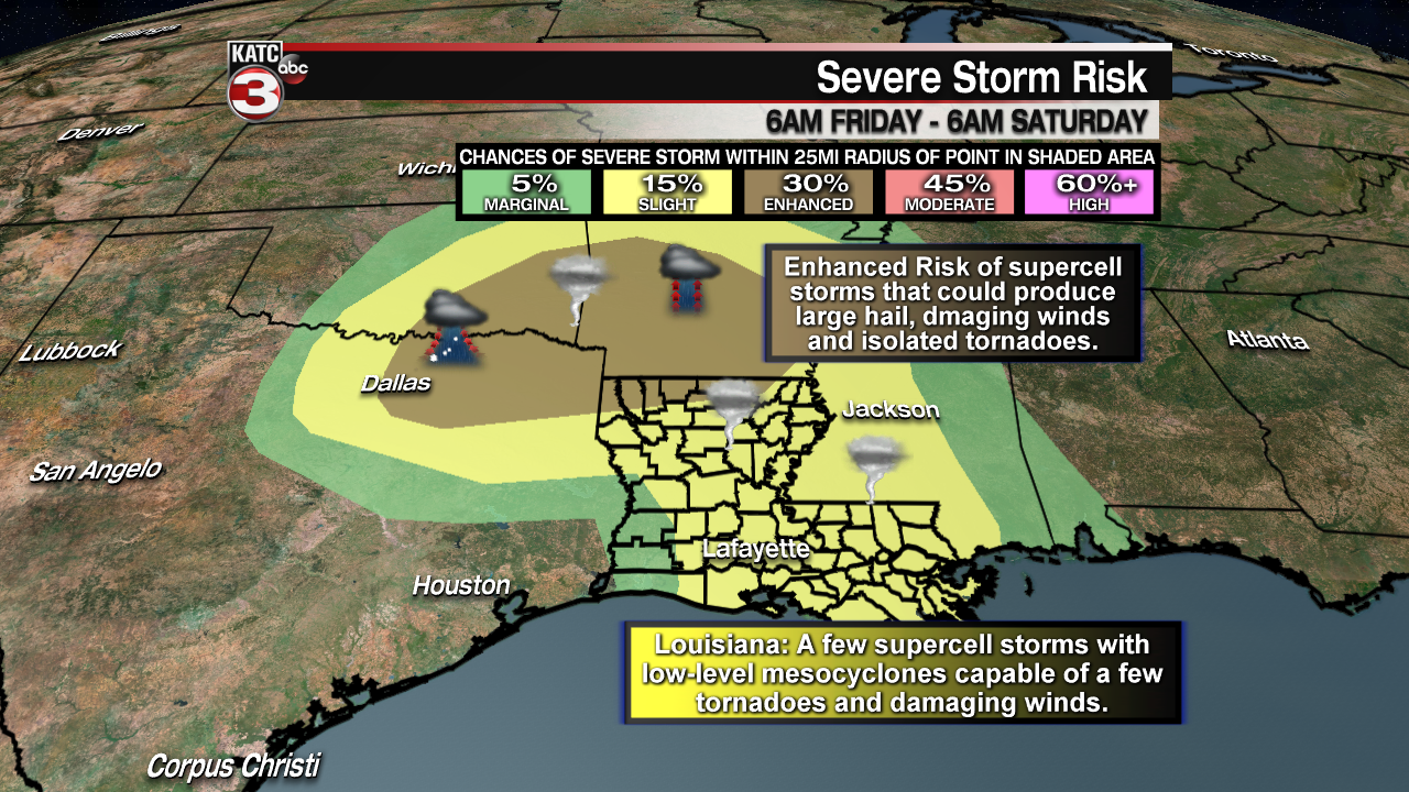 Chance of storms/severe weather threat increasing into