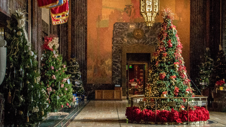 Christmas in Memorial Hall in the State Capitol