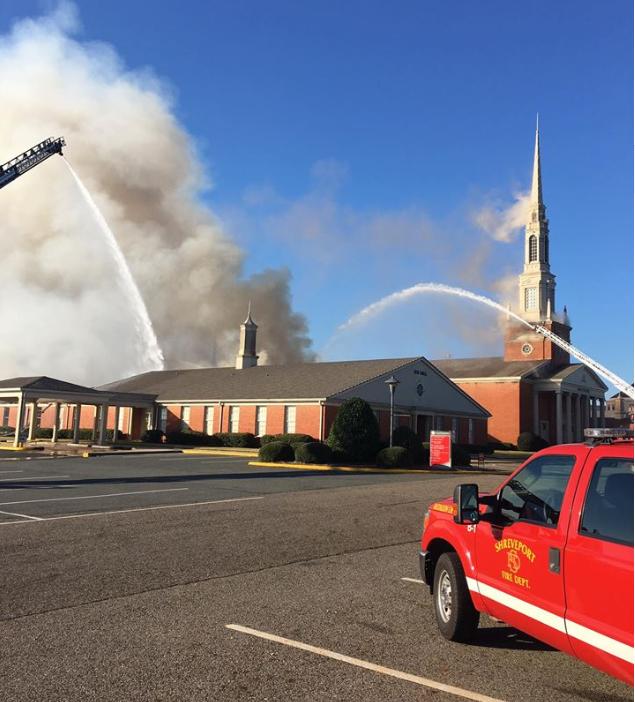 Bossier Baptist Church fire