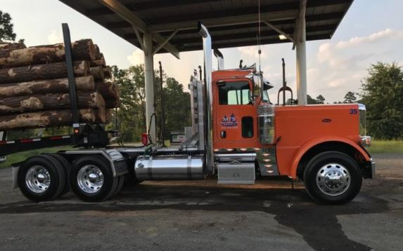 2016 Peterbilt truck and 2016 Viking log trailer that was stolen from the Bossier City area.