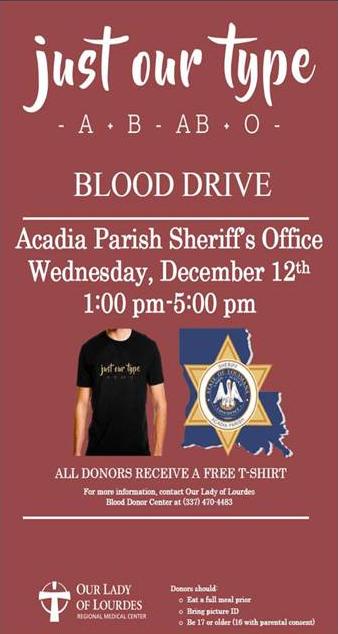 Acadia Parish Blood Drive