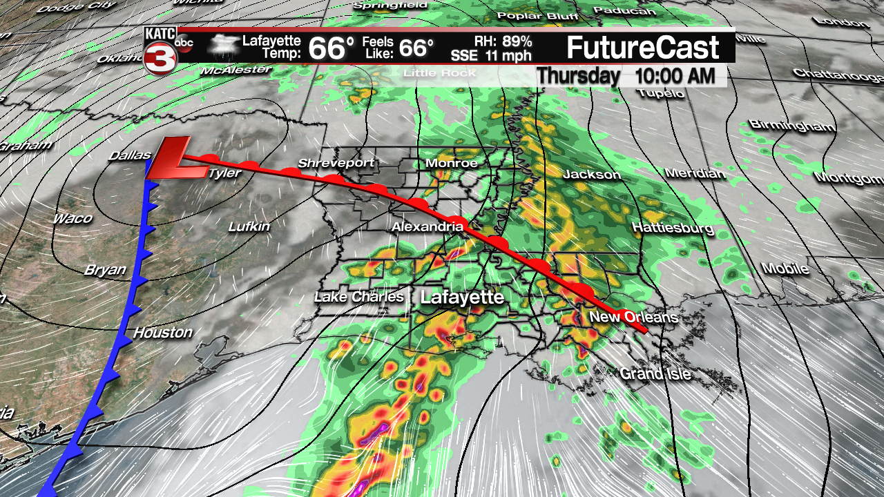 Clouds increase Wednesday ahead of wet weather system Thursday