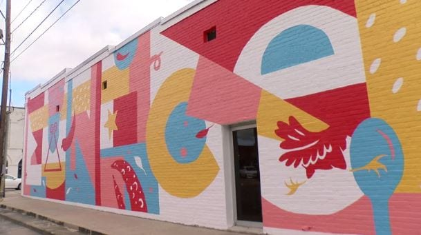 downtown Eunice mural