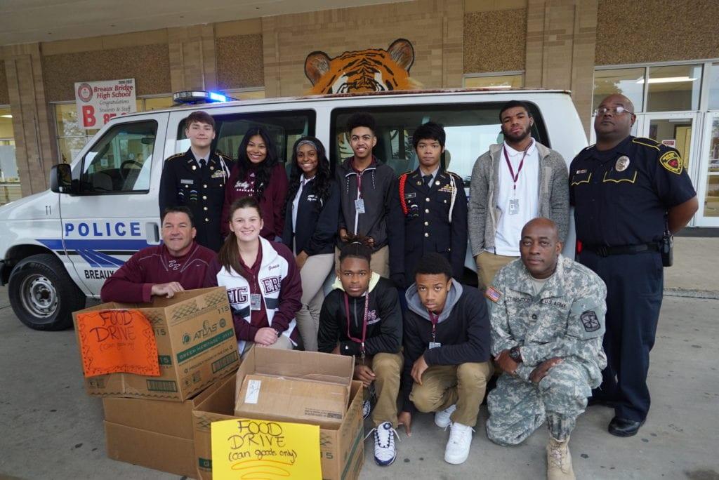 St. Martin Parish JROTC teams up with Breaux Bridge High's National Honor Society