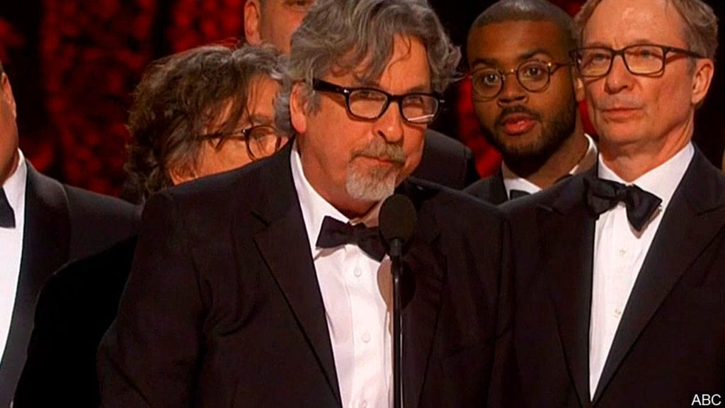 PHOTO: Peter Farrelly and the cast of