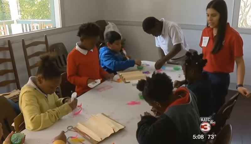 ULL Education majors presented 140 8th grade students from Lafayette Middle a series of engaging lessons focused on secondary Social Studies and English/Language Arts. (PHOTO: KATC)