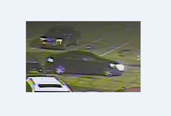 Identity of suspects sought by police. Police believe this is the car the suspect's were driving.