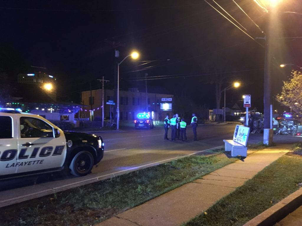 crash at Johnston and E Convent