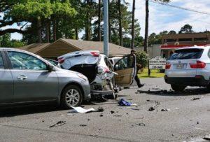 Accident involving seven cars snarls traffic on Johnston Street