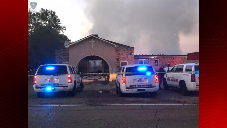 Opelousas Church Fire