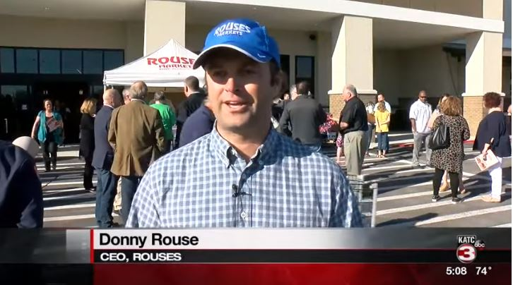 Donny Rouse, CEO of Rouses, attending the grand opening of the super market's newest location on E Admiral Doyle Drive in New Iberia on March 27, 2019.