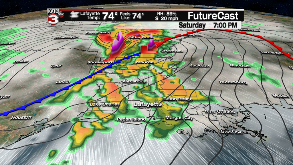 Few showers/storms possible Friday
