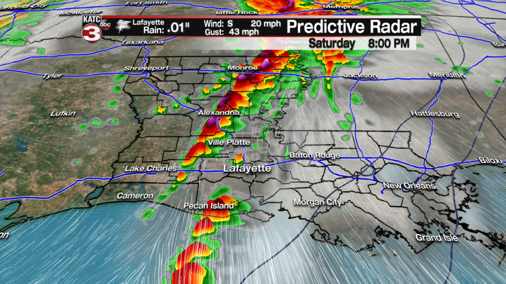 Substantial severe weather risk for Acadiana late Saturday…worse for
