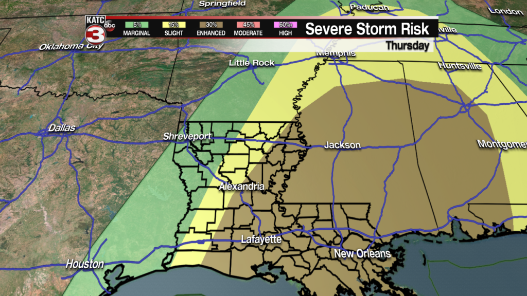 Severe weather continues to look likely Thursday