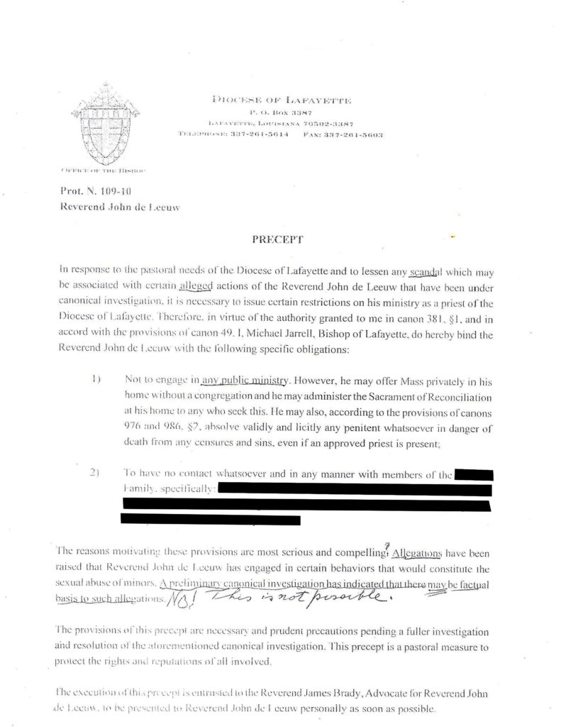 Accused priest's records show effort by the church to