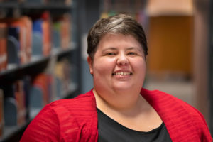 Photo caption: Kelsey Couvillion, winner of the Jefferson Caffery Research Award (Photo credit: Doug Dugas / University of Louisiana at Lafayette)