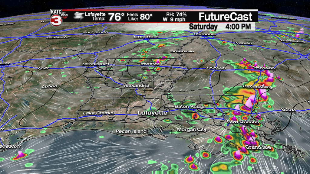 Still on track for Saturday storms